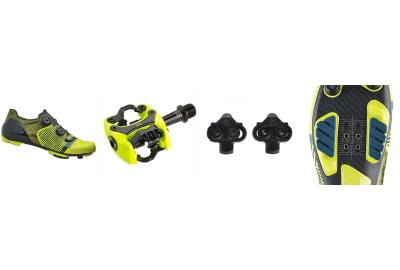 Bike shoes, pedals, and cleats must all be compatible for mountain biking