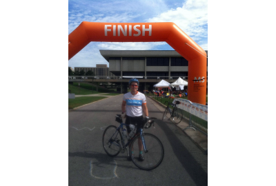 Shawn Blaesing-Thompson rode Cruise the Cornfields to raise money for the National MS Society