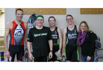 Group of friends at the Ice Breaker Triathlon