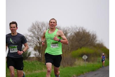 Jesse Veenstra ran for the Kyle's Bikes team in the Market to Market Relay