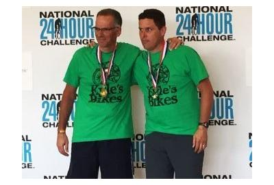Dave and Kyle won their division at the National 24-Hour Challenge