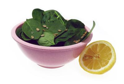Spinach has iron