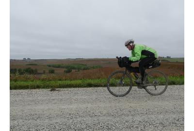 Kyle Platts raced the cold and rainy Spotted Horse Gravel Ultra