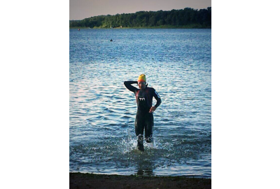 Tami Ritchie with a big lead at Chisago Lakes Triathlon